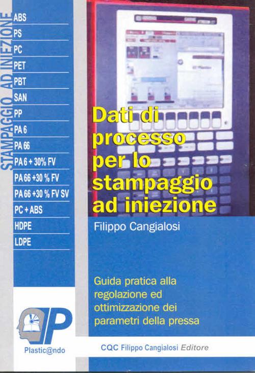 Product picture Dati di processo per lo stampaggio ad iniezione-Libro